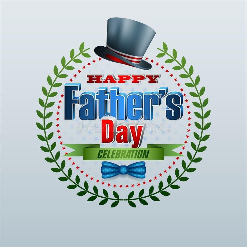 Feiern von Vater ` s Tag vektor abbildung