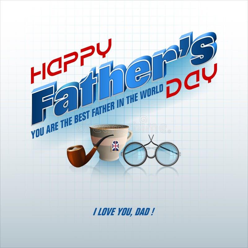 Feiern von Vater ` s Tag stock abbildung
