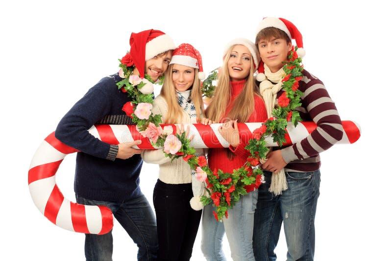 Feiern von Weihnachten stockfoto