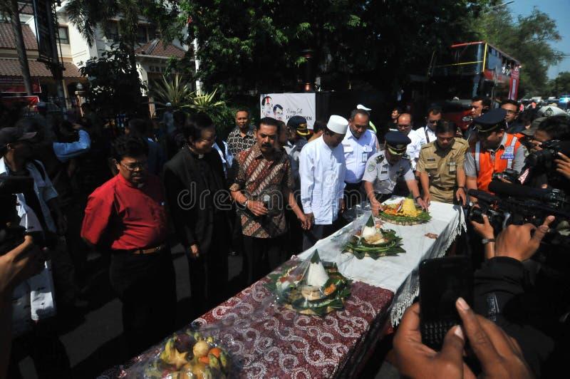 Feiert Joko Widodo Victory in der Präsidentschaftswahl lizenzfreie stockbilder