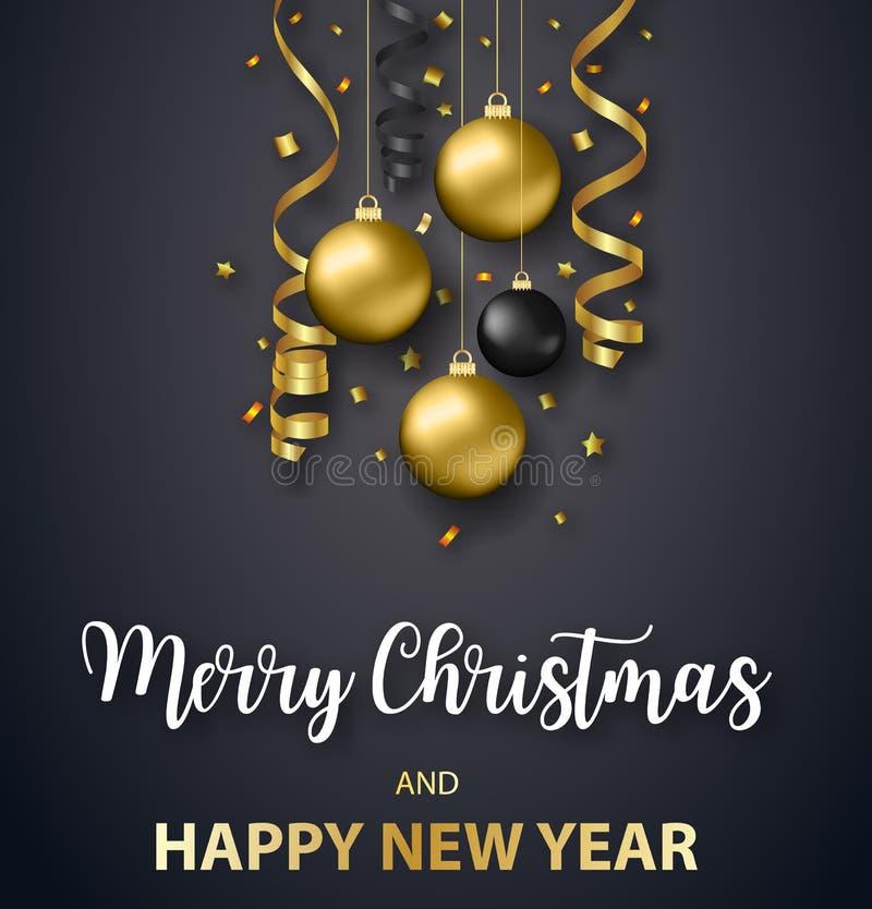 Feiertag der Plakat-frohen Weihnachten lizenzfreie abbildung