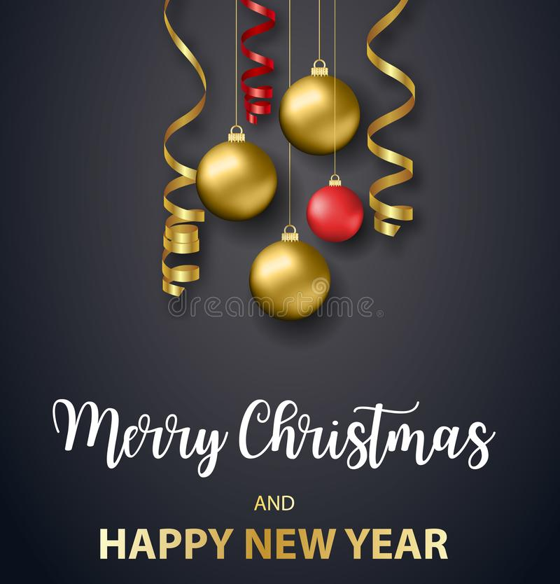 Feiertag der Plakat-frohen Weihnachten stock abbildung