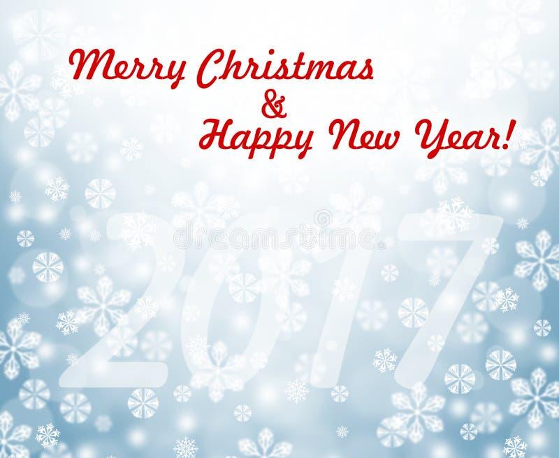 Feiertag 2017 Hintergrund des neuen Jahres Weihnachts stock abbildung