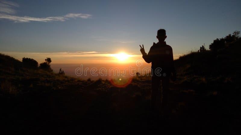 Feiertag in M.Ü. Merbabu lizenzfreies stockfoto