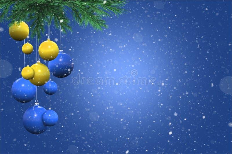 Feiertag Snowy-Hintergrund lizenzfreie abbildung