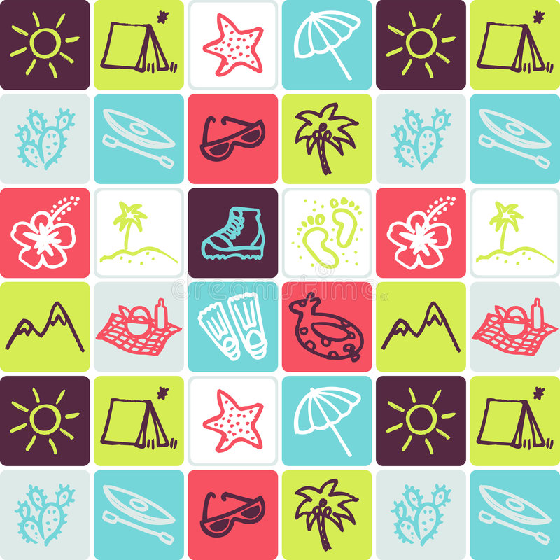 Feiertage überprüftes Muster stock abbildung