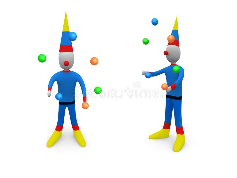 Feiertage - Clown lizenzfreie abbildung