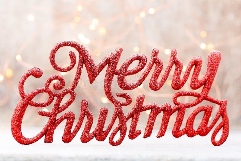 Feiertags-Beschriftung, frohe Weihnachten, roter Schmutz stockbilder