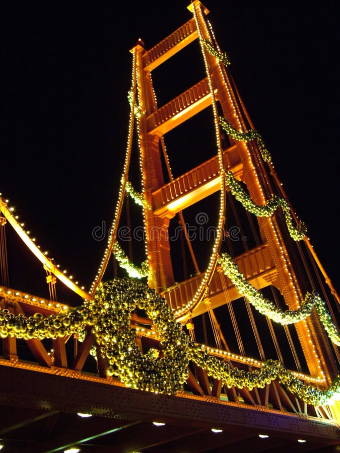 Feiertags-Brücke lizenzfreies stockfoto