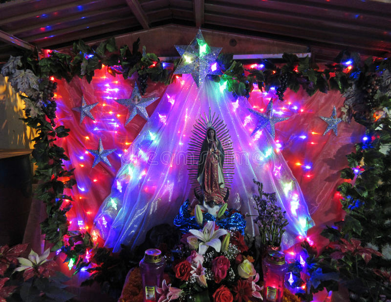 Feiertags-Geburt Christi in Chilpancingo Mexiko lizenzfreie stockfotos