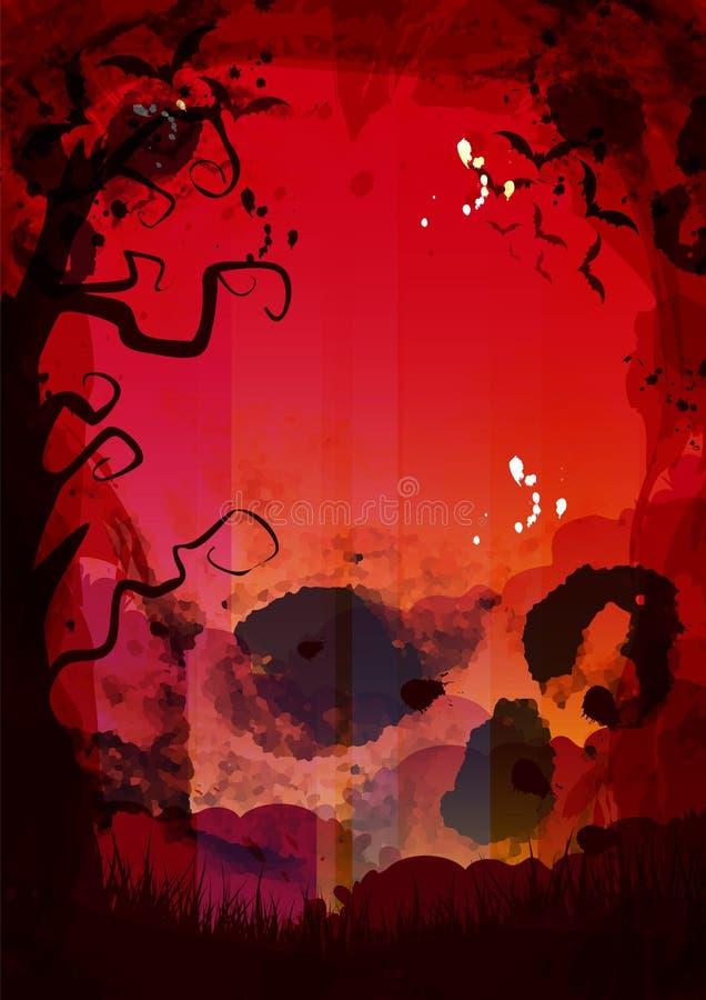 Feiertags-Halloween-Fahnen K?rbis Latte Feiertag Oktober Halloween-Geist Halloween-Spinne, Halloween-Baum K?rbisgrenze r stock abbildung
