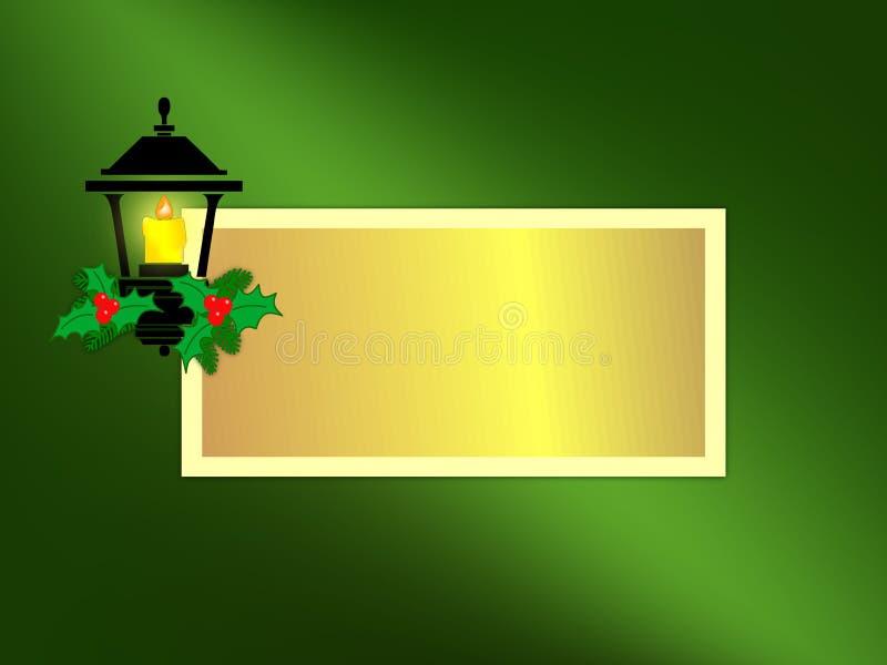 Feiertags-Laterne-Gruß-Karte lizenzfreie stockfotografie