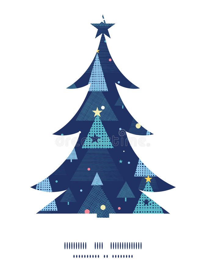 Feiertags-Weihnachtsbäume Weihnachten des Vektors abstraktes stock abbildung