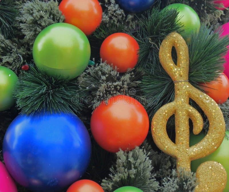 Feiertags-Weihnachtsbaum-Dekorationen lizenzfreies stockbild