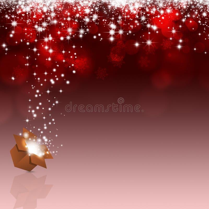 Feiertags-Weihnachtsmagie-Kasten lizenzfreie abbildung