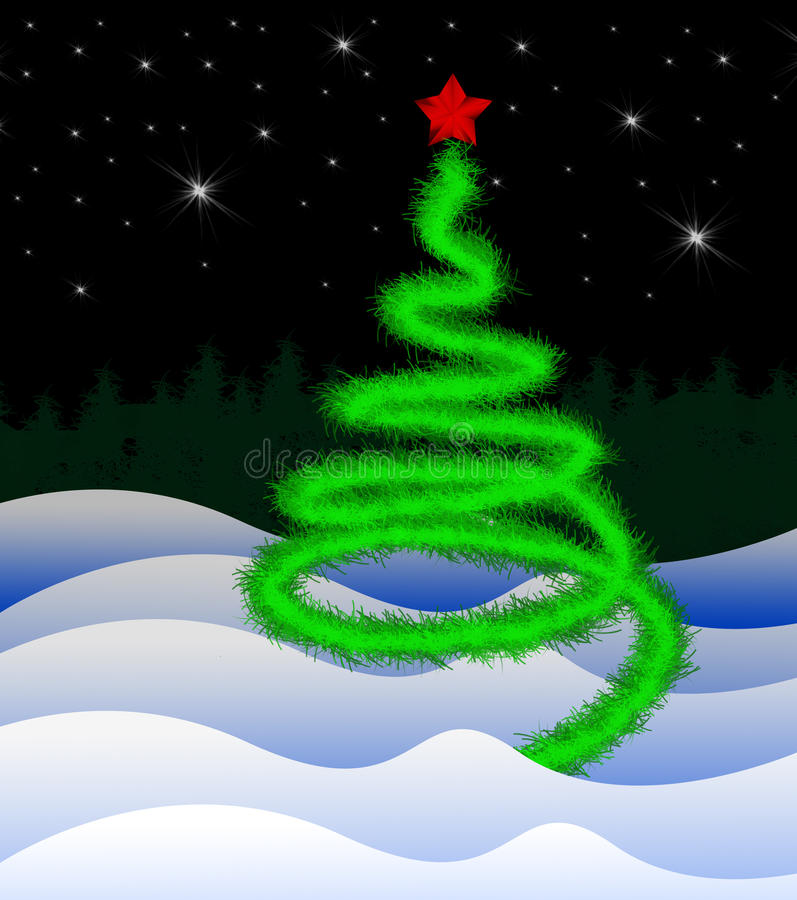 Feiertagsbaum vektor abbildung