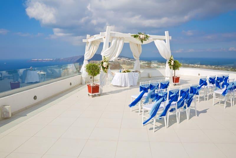 Feiertagsdekorationen für die Hochzeit stockbild