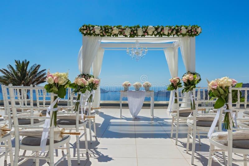 Feiertagsdekorationen für die Hochzeit stockfoto