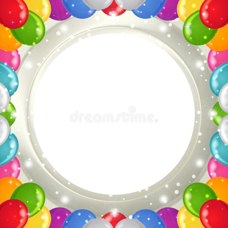 Feiertagshintergrund Mit Ballonrahmen Vektor Abbildung ...