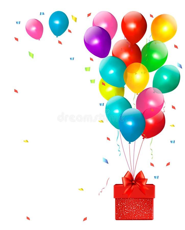 Feiertagshintergrund mit bunten Ballonen vektor abbildung