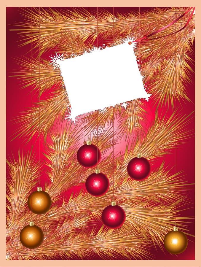 Feiertagshintergrund mit einem funkelnden Weihnachtsbaum stock abbildung