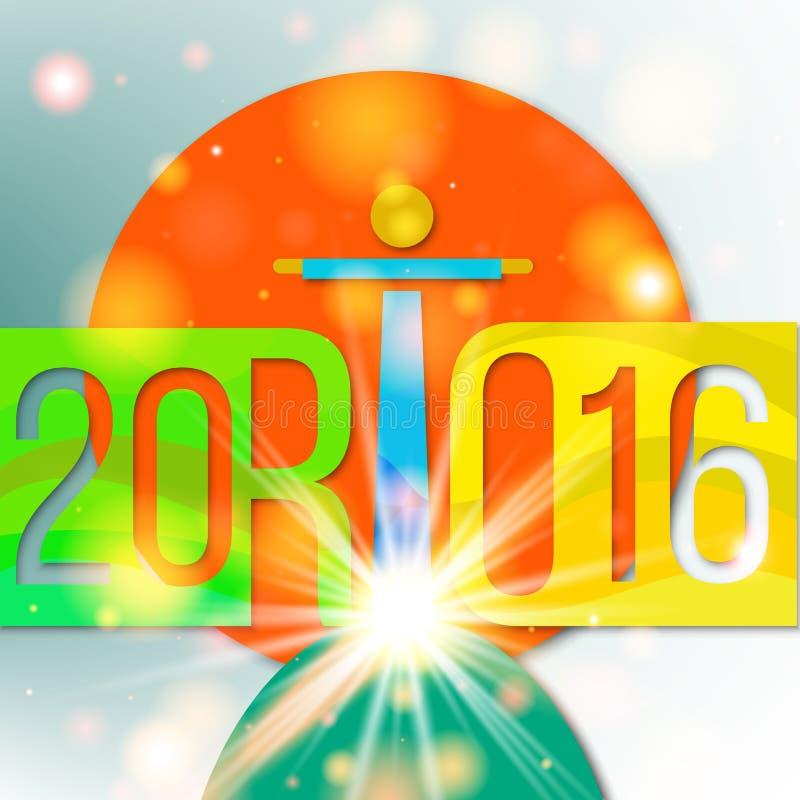 Feiertagshintergrund zum olimpiiade in Rio de Janeiro 2016 stock abbildung
