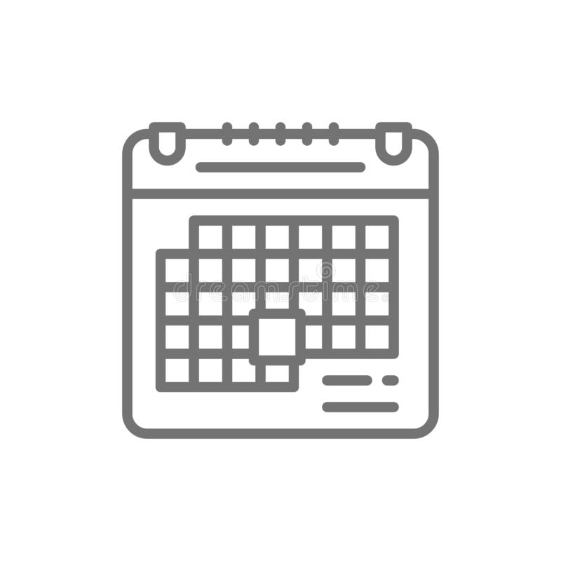 Feiertagskalender, Geburtstag, Parteizeitlinie Ikone lizenzfreie abbildung