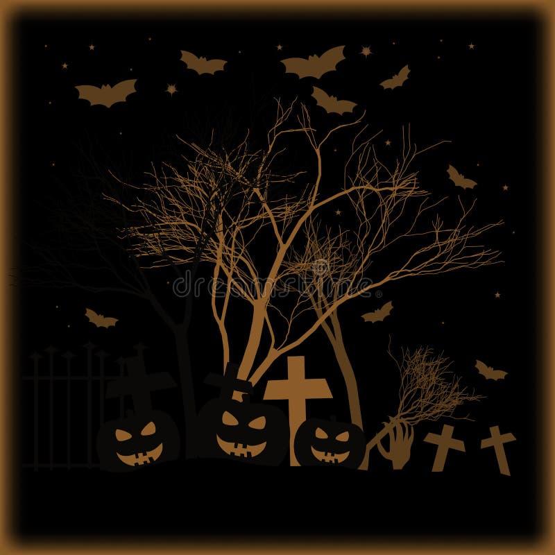Feiertagsplakat für Halloween vektor abbildung