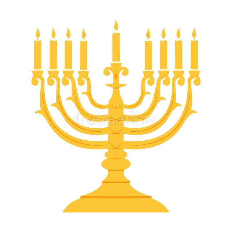 Feiertagsreligion jüdisches Chanukka-Festival von Lichtern