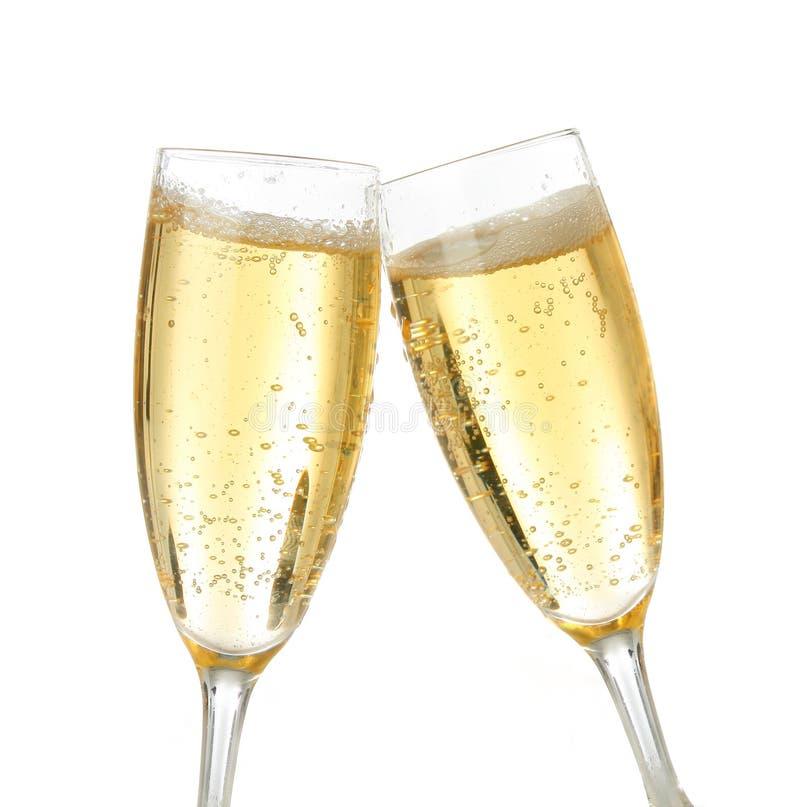 Feiertoast mit Champagner lizenzfreies stockfoto