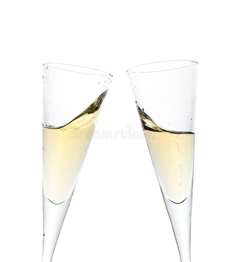 Feiertoast mit Champagner lizenzfreie stockbilder