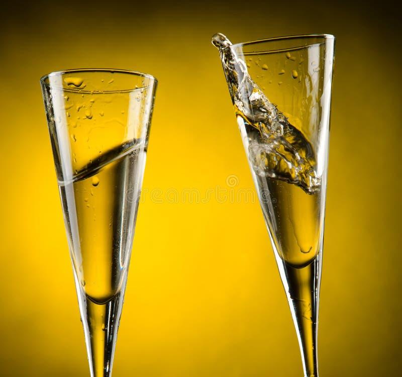 Feiertoast mit Champagner stockbilder