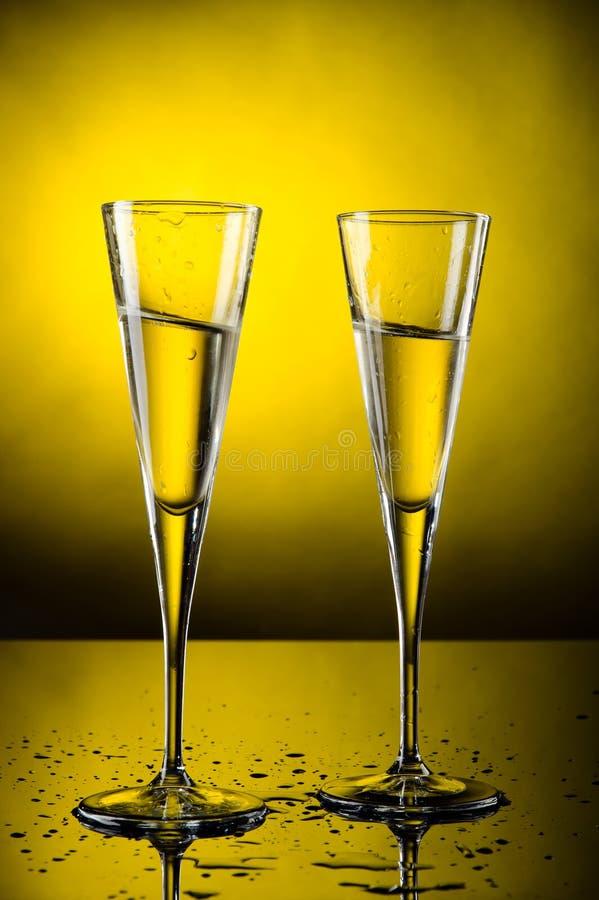 Feiertoast mit Champagner stockbild