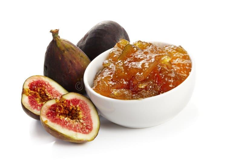Feigen und Feige-Marmelade lizenzfreies stockbild