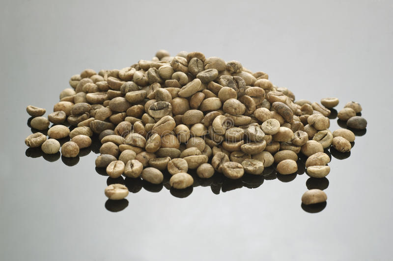 Feijão de café verde imagem de stock royalty free