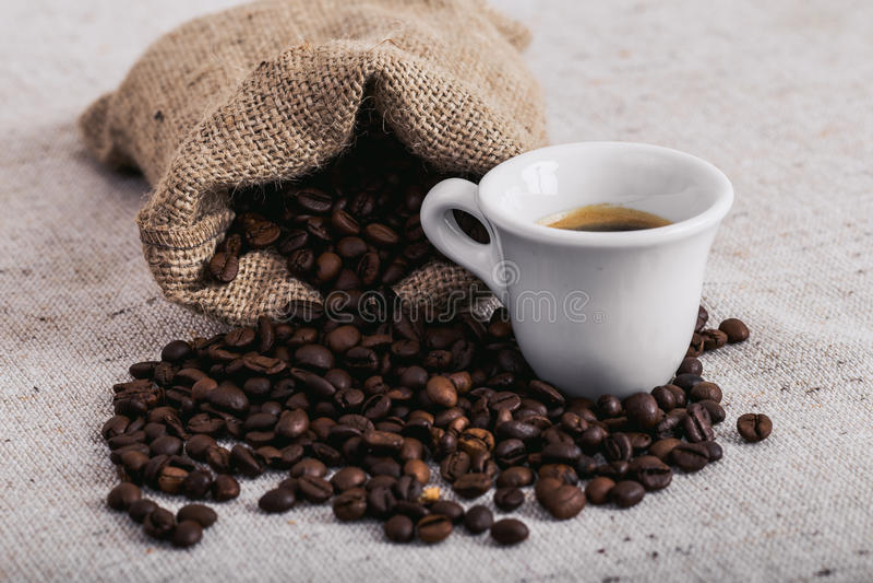 Feijão roasted, textura agradável de Coffe fotografia de stock