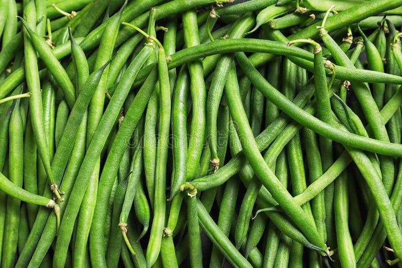 Feijão verde verde fresco como o fundo fotos de stock