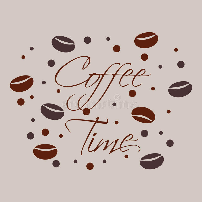 Feijões de café ilustração royalty free