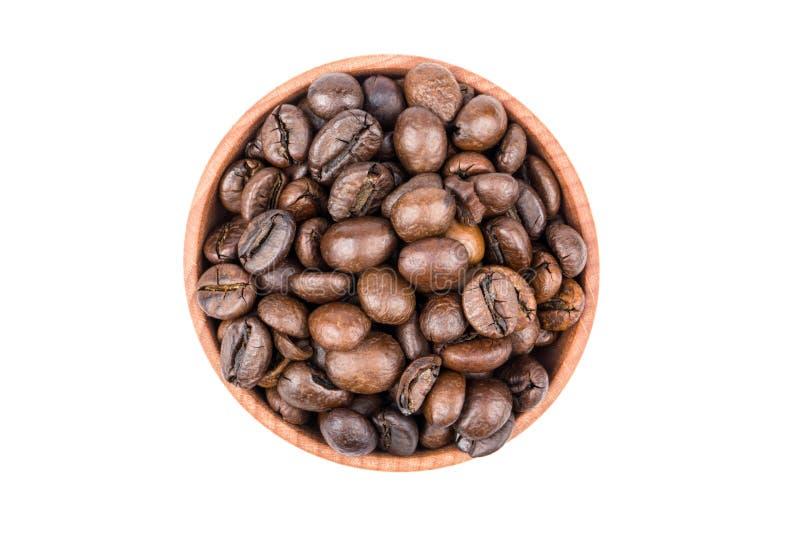 Feijões de café em uma bacia imagem de stock