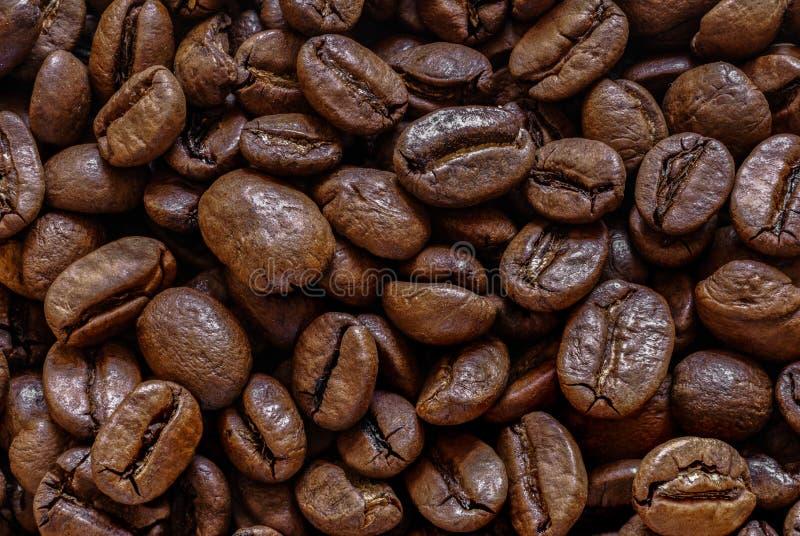 Feijões de café marrons orgânicos naturais Roasted imagem de stock