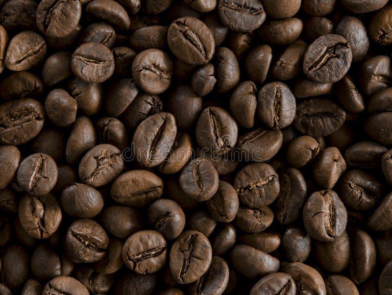 Feijões de café Roasted como o backgroundon a tabela fotos de stock