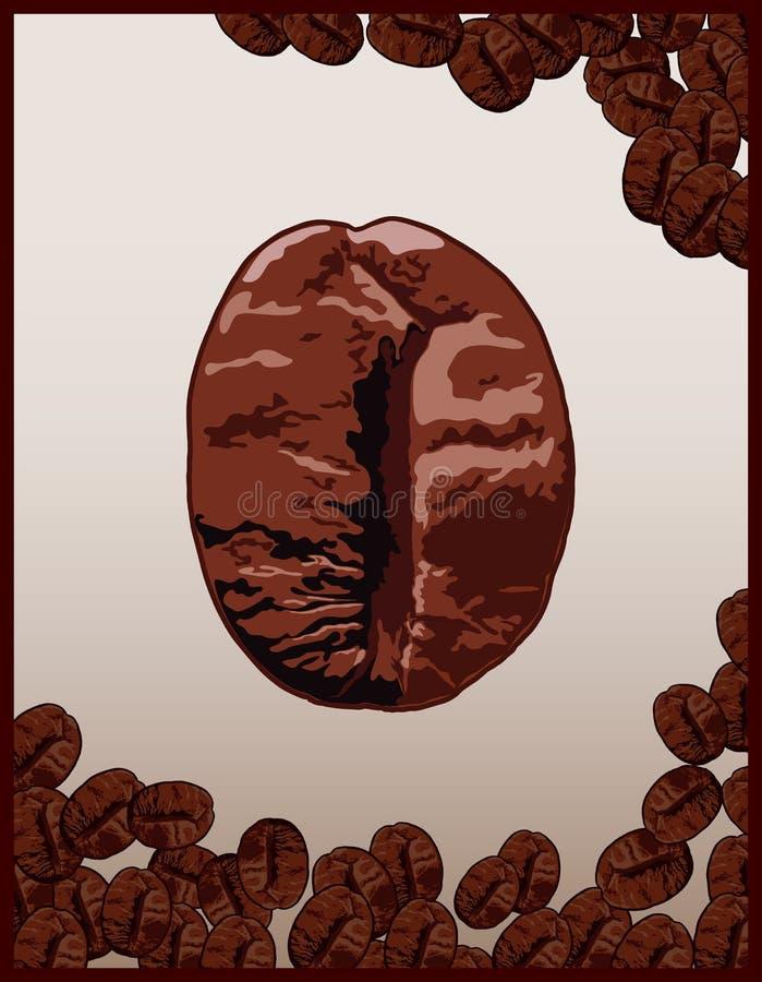 Download Feijões de Coffe ilustração stock. Ilustração de macro - 12810025