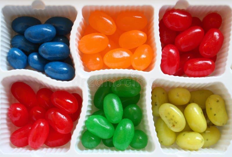 Feijões de geléia coloridos fotografia de stock