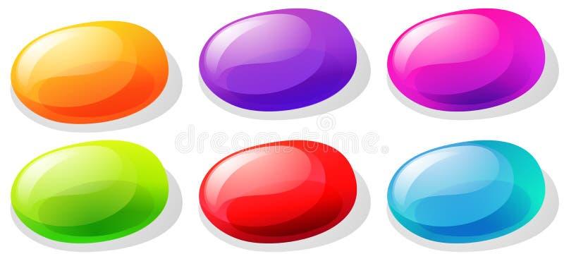 Feijões de geleia em muitas cores ilustração do vetor