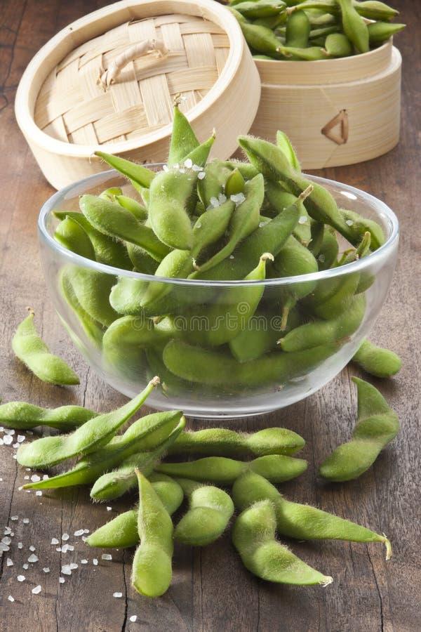 Feijões de soja Edamame Vegetables fotos de stock royalty free