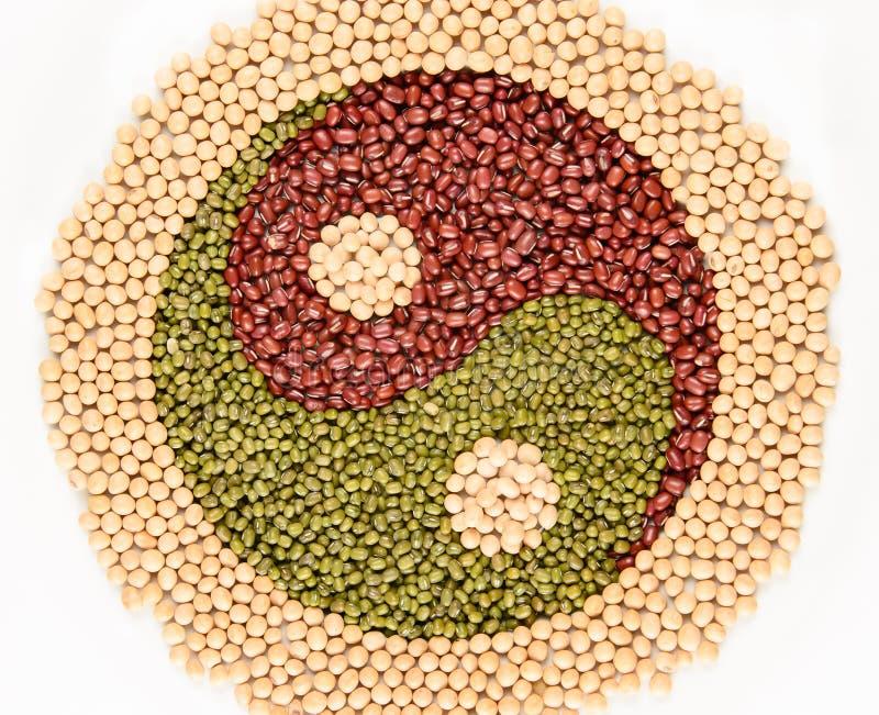 Feijões de Yin Yang imagem de stock
