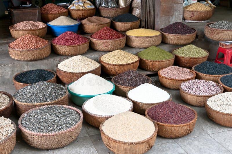 Feijões e sementes