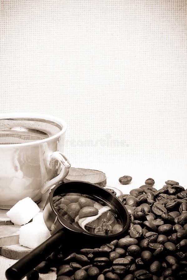Download Feijões e vidro de café imagem de stock. Imagem de heap - 12811461