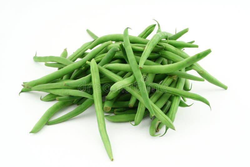 Feijões franceses verdes fotografia de stock