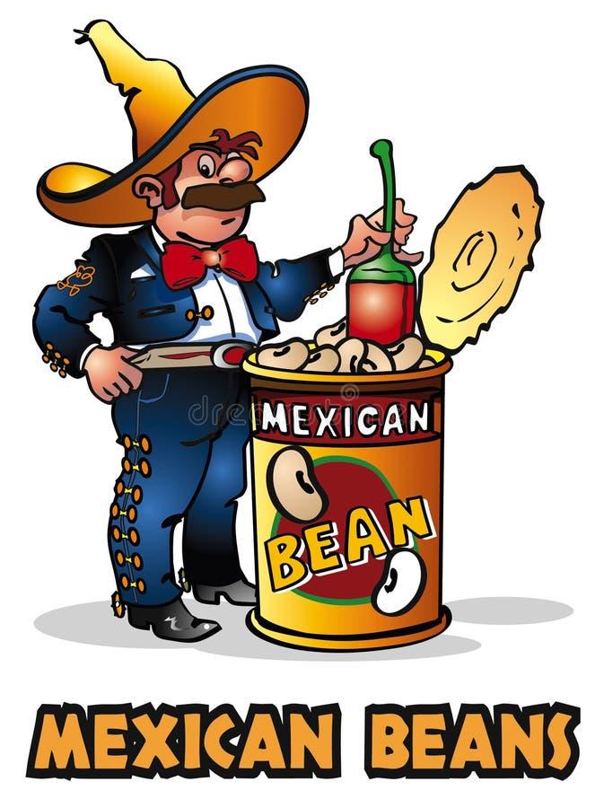 Feijões mexicanos ilustração stock